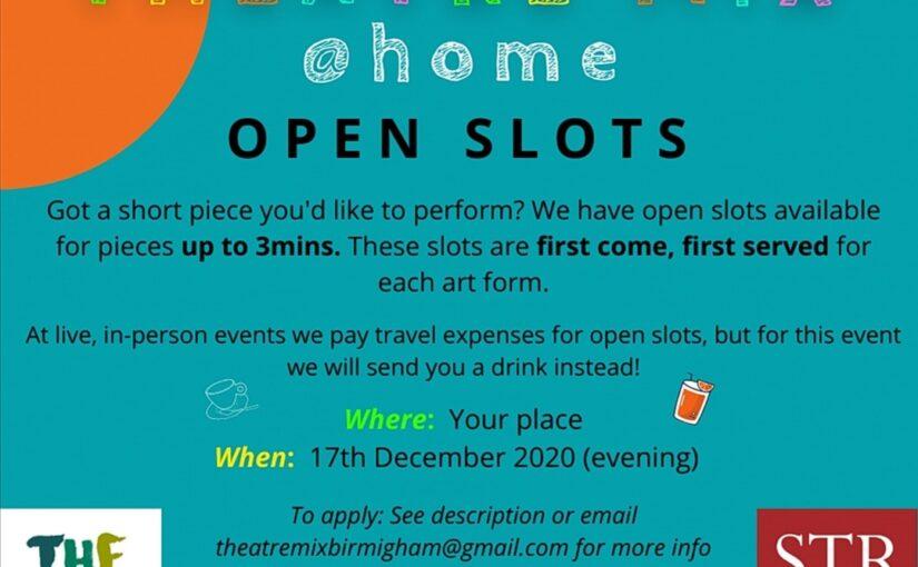 Theatre Mix @ Home: Open Slots