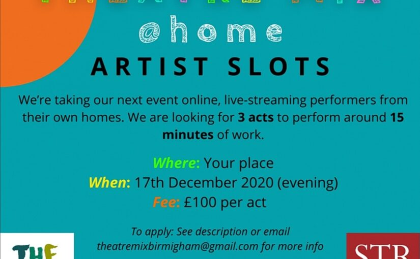 Theatre Mix @ Home: Artist Call Out