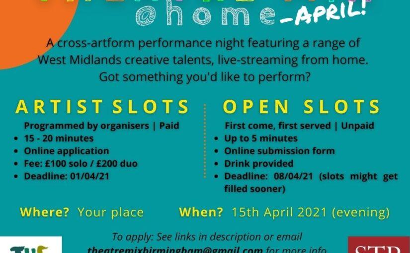 Theatre Mix @ home – April