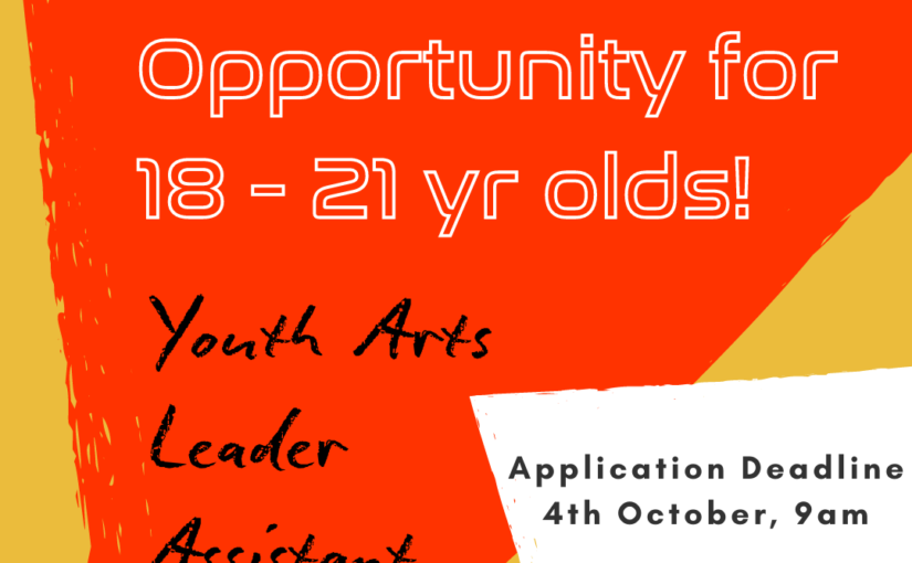 Paid Opportunity! Youth Arts Leader Assistant
